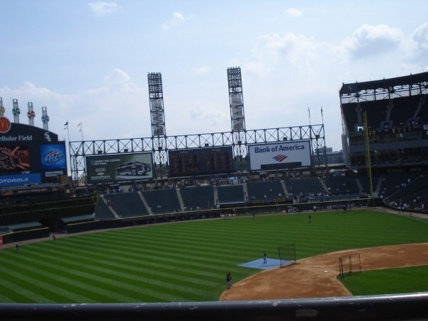 U.S. Cellular Field Section 342 View: Row 1, Seat(s) 4
