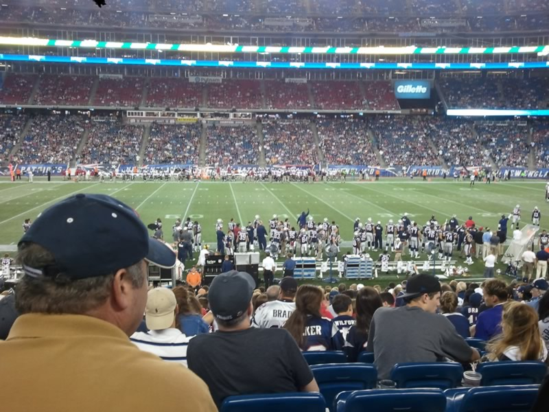 Best Seats In The Stadium Gillette Stadium Section 109 Review Rateyourseats Com