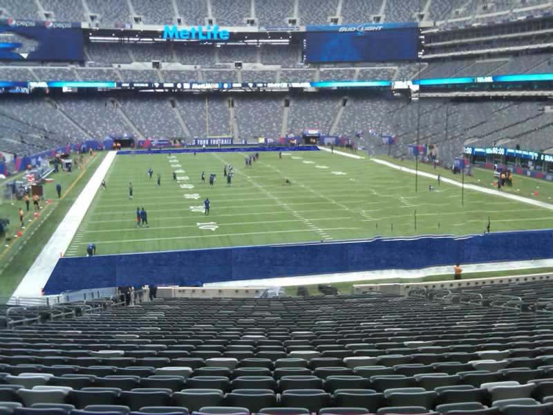MetLife Stadium Section 128 - Giants/Jets - RateYourSeats.com