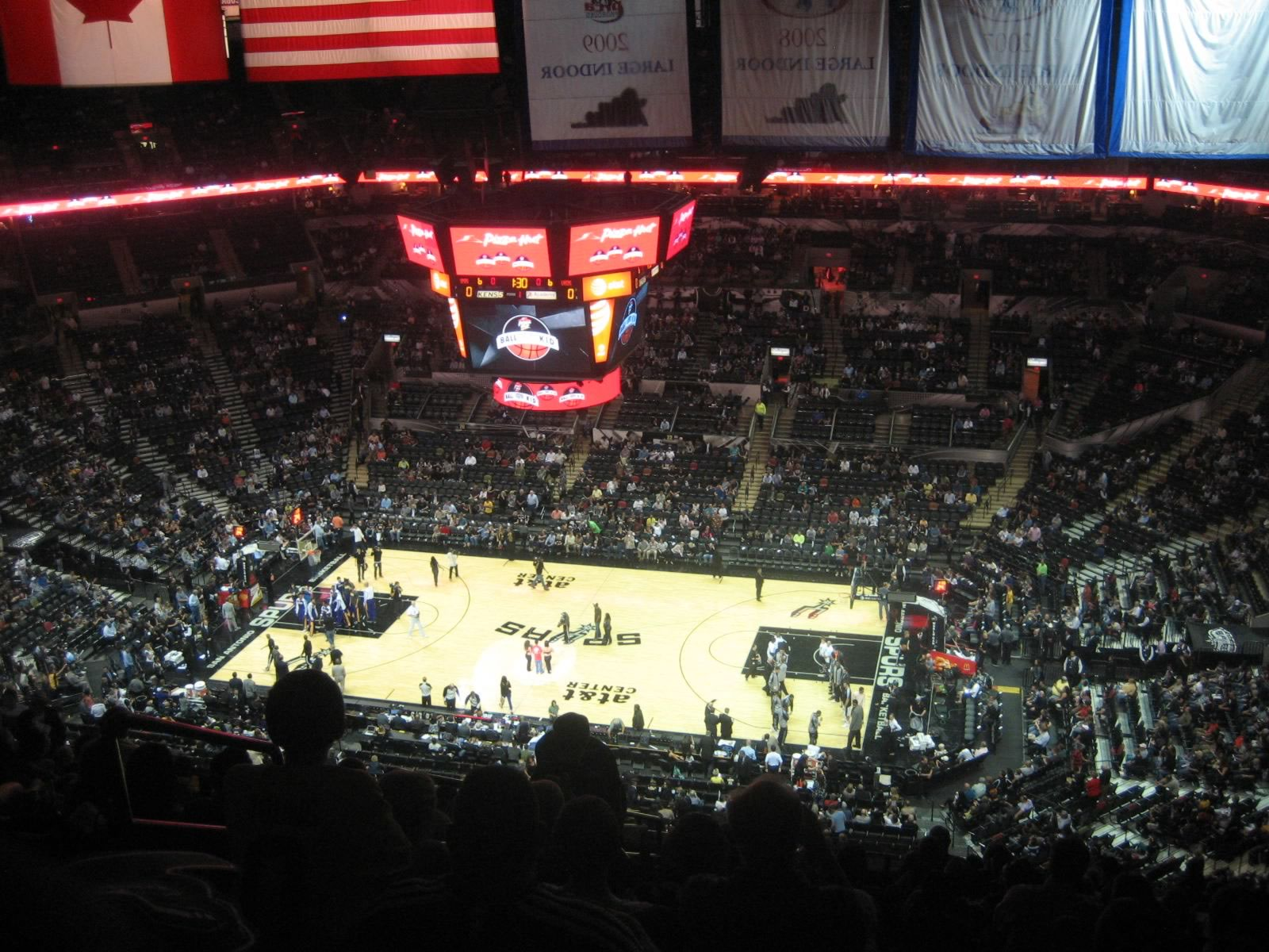 At Amp T Center Section 206 San Antonio Spurs