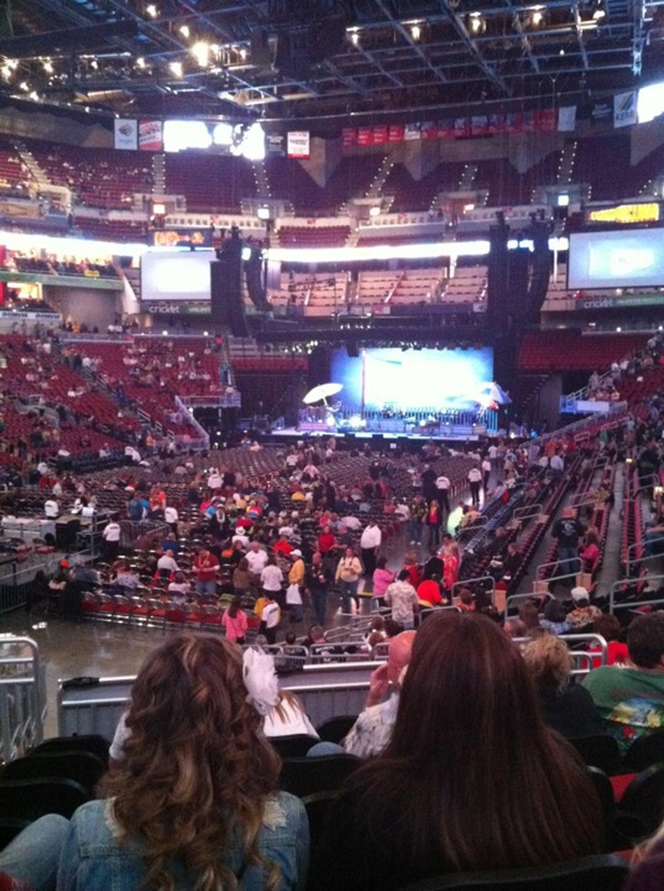 KFC Yum Center Section 109 Concert Seating