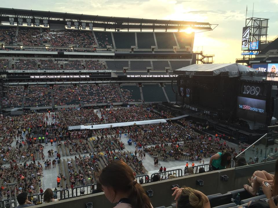 Lincoln Financial Field Section C21 Concert Seating