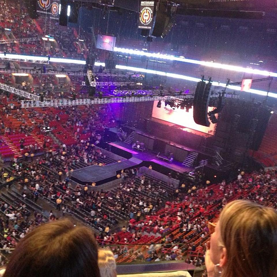 AmericanAirlines Arena Section 311 Concert Seating ...