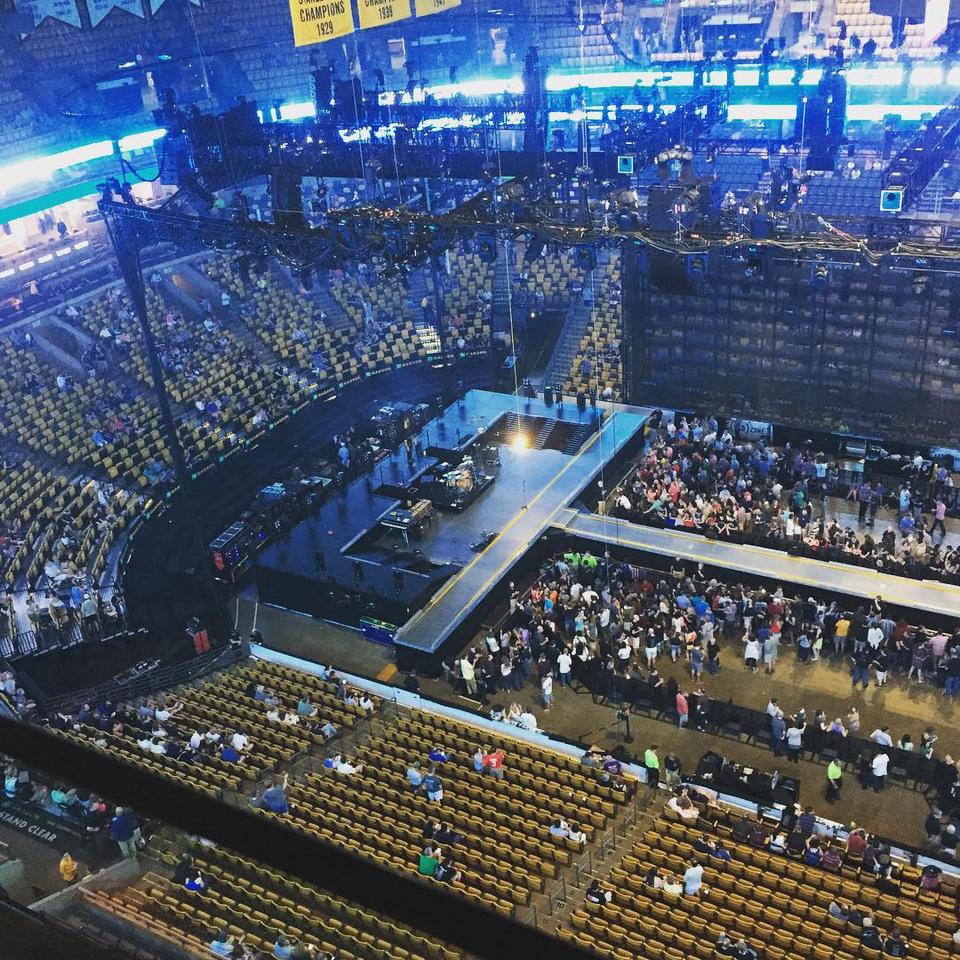 TD Garden Section 316 Concert Seating