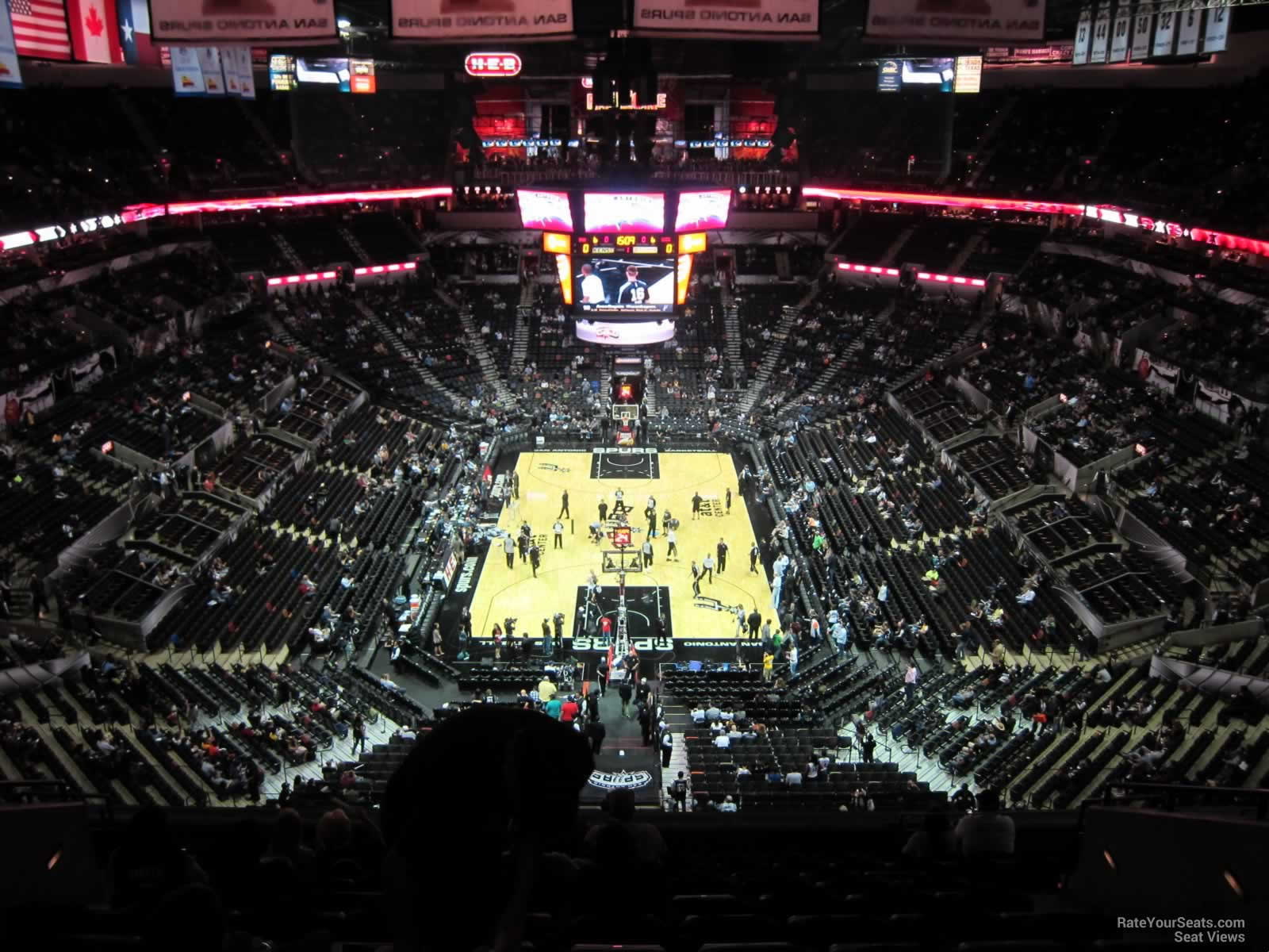 At t center section 200 san antonio spurs for Dining options at at t stadium