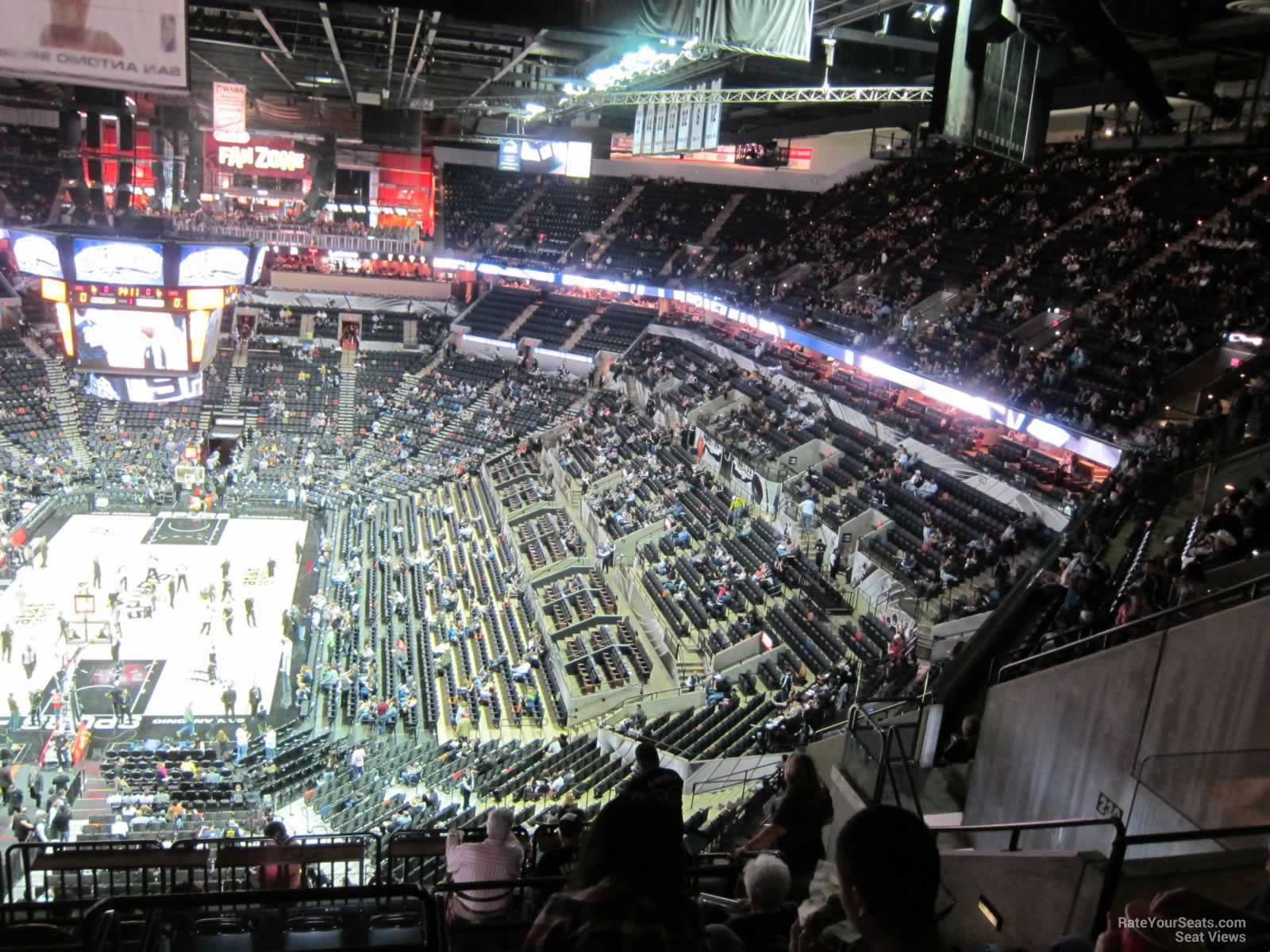 At Amp T Center Section 230 San Antonio Spurs