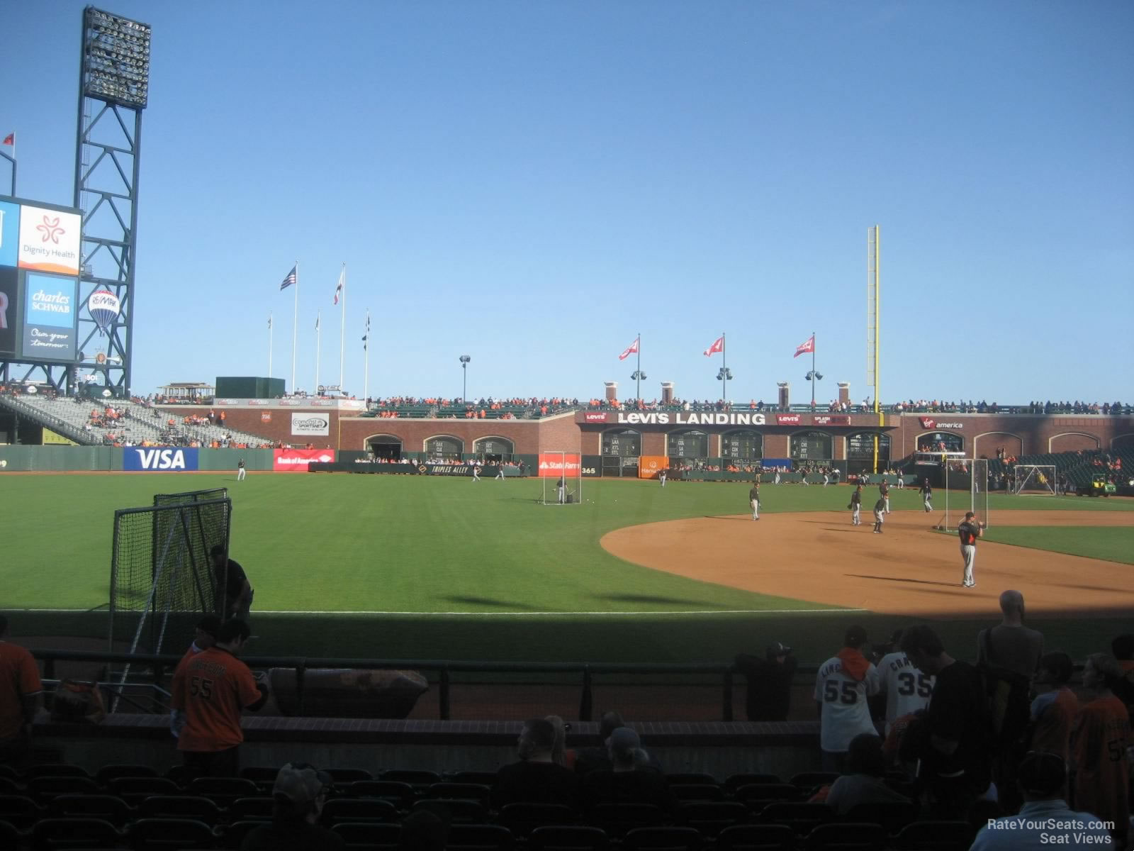 At Amp T Park Section 127 San Francisco Giants Rateyourseats Com
