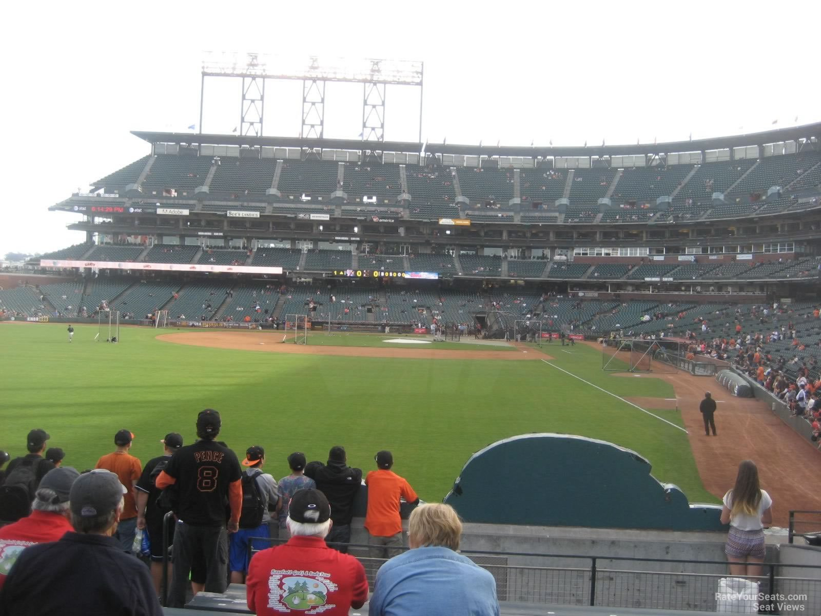 AT&T Park Section 136 - San Francisco Giants ...