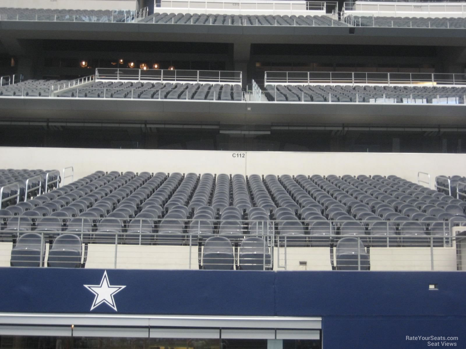 At t stadium section c112 dallas cowboys for Dining options at at t stadium