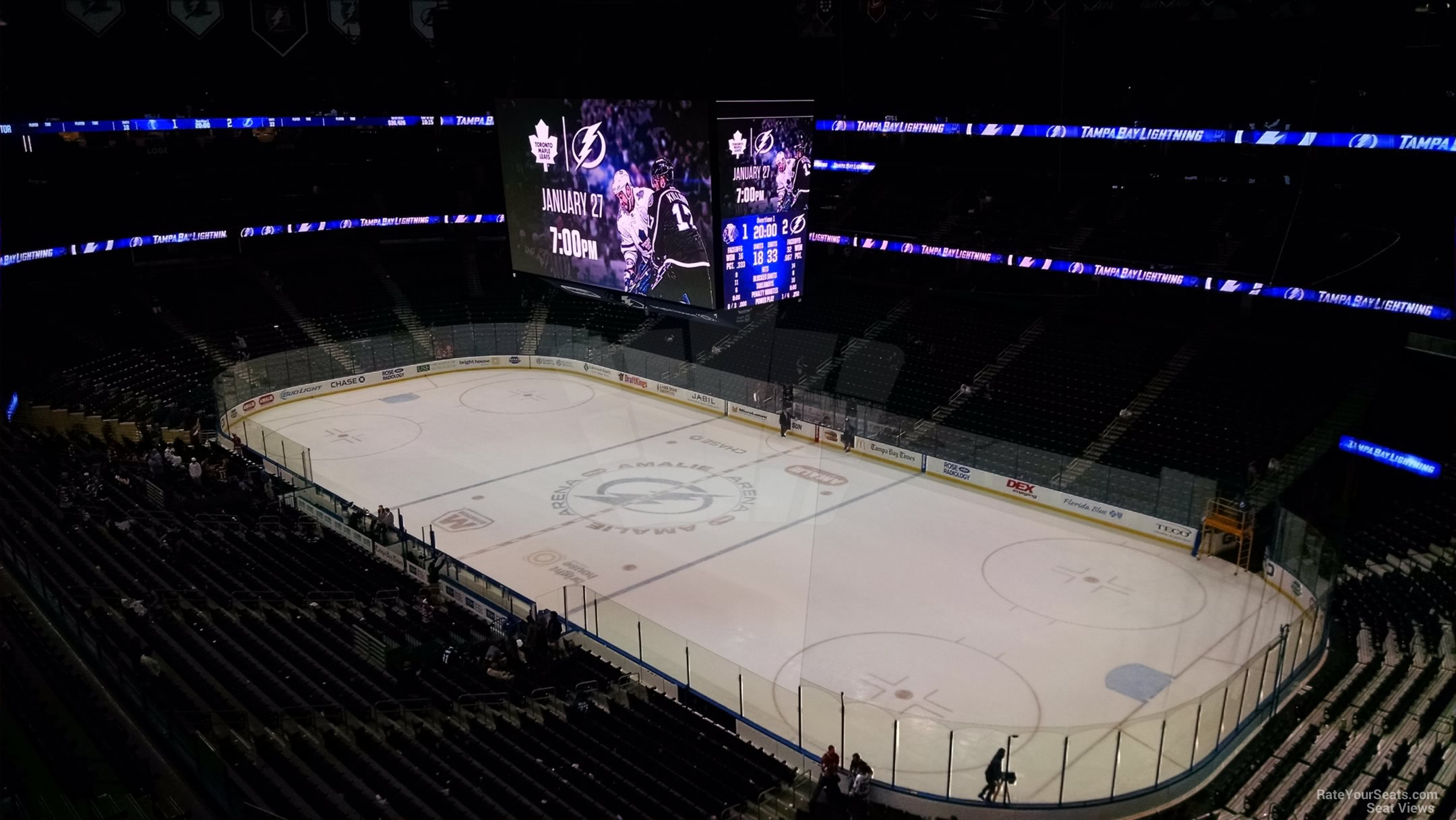 Amalie Arena Section 327 - Tampa Bay Lightning ...