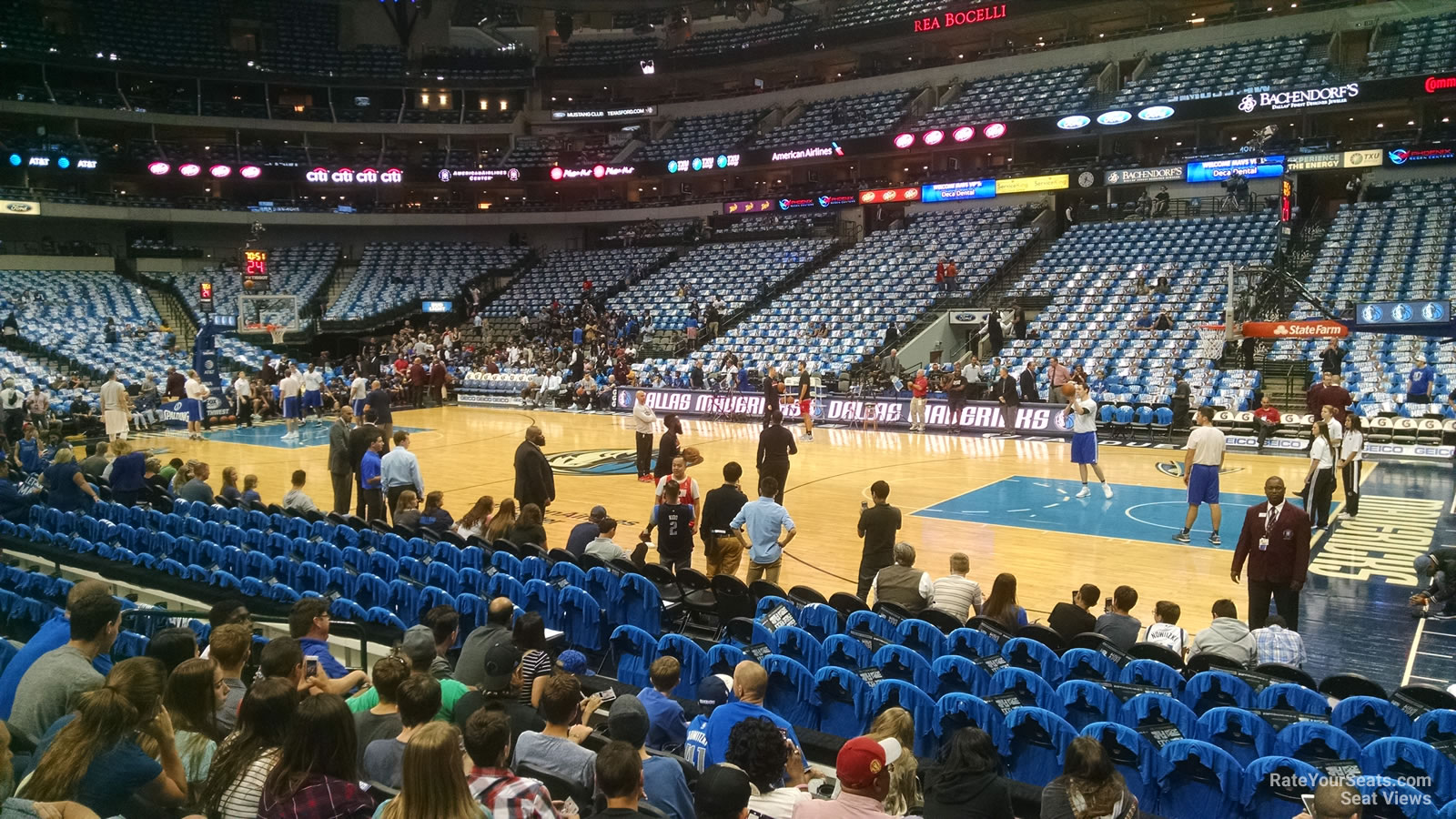 American Airlines Center Section 105 Dallas Mavericks Rateyourseats Com