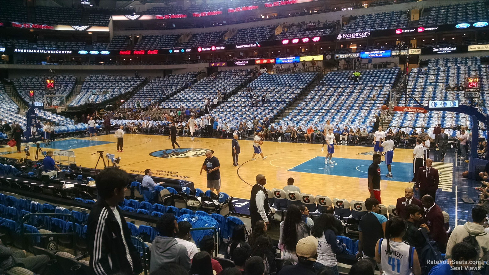 American Airlines Center Section 117 Dallas Mavericks