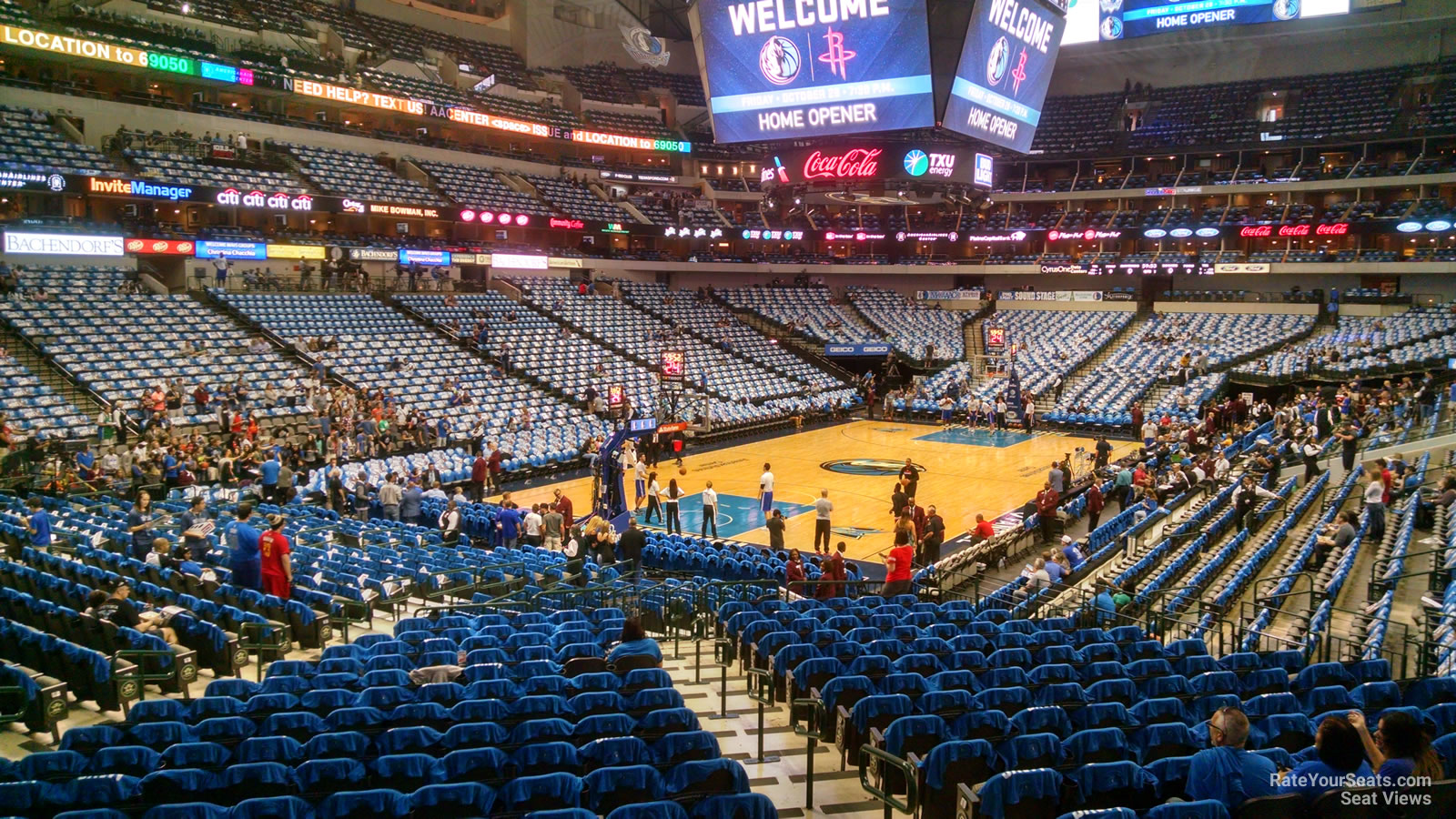 Dallas Mavericks American Airlines Center Section 123