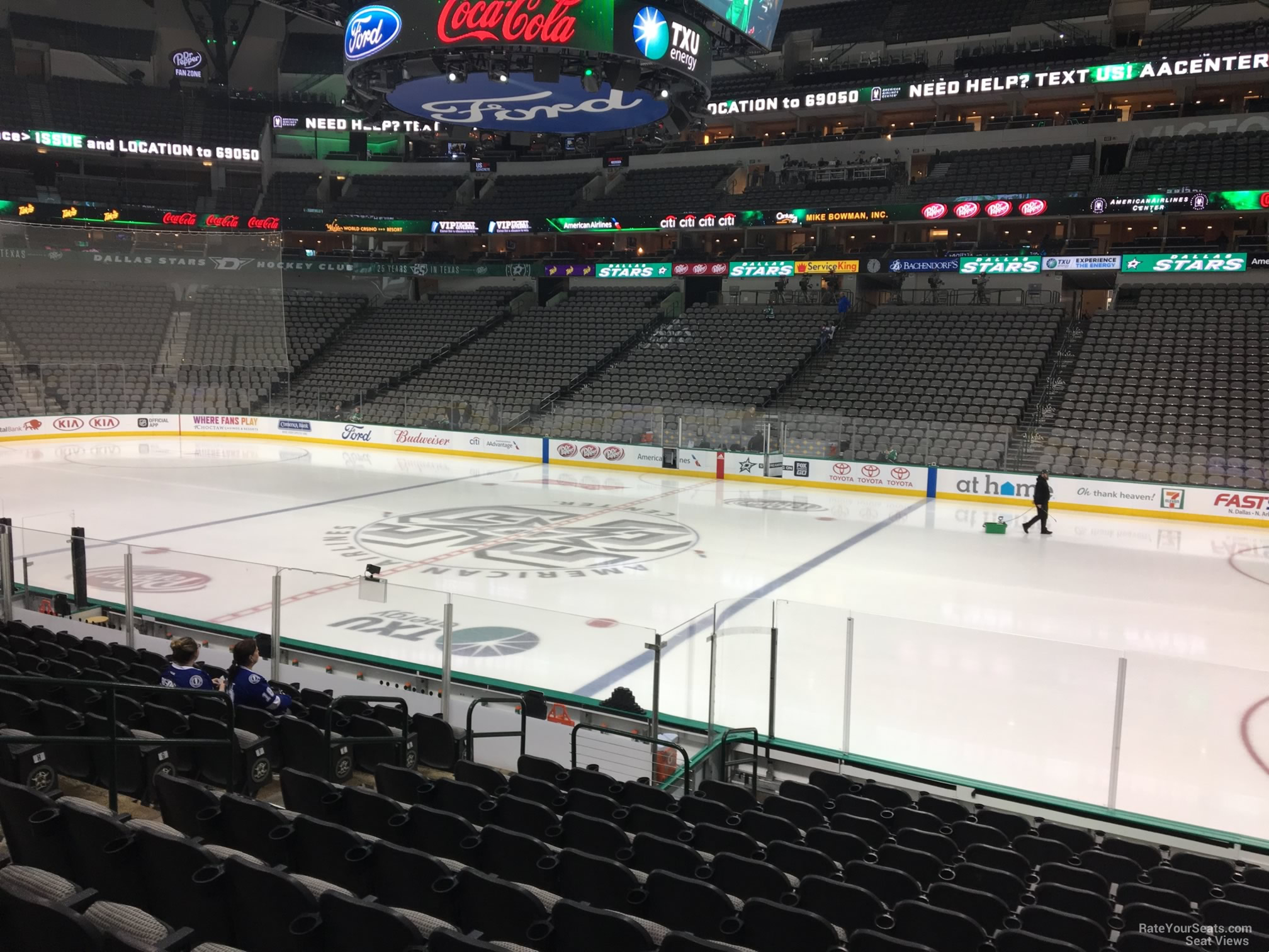American Airlines Center Section 117 Dallas Stars