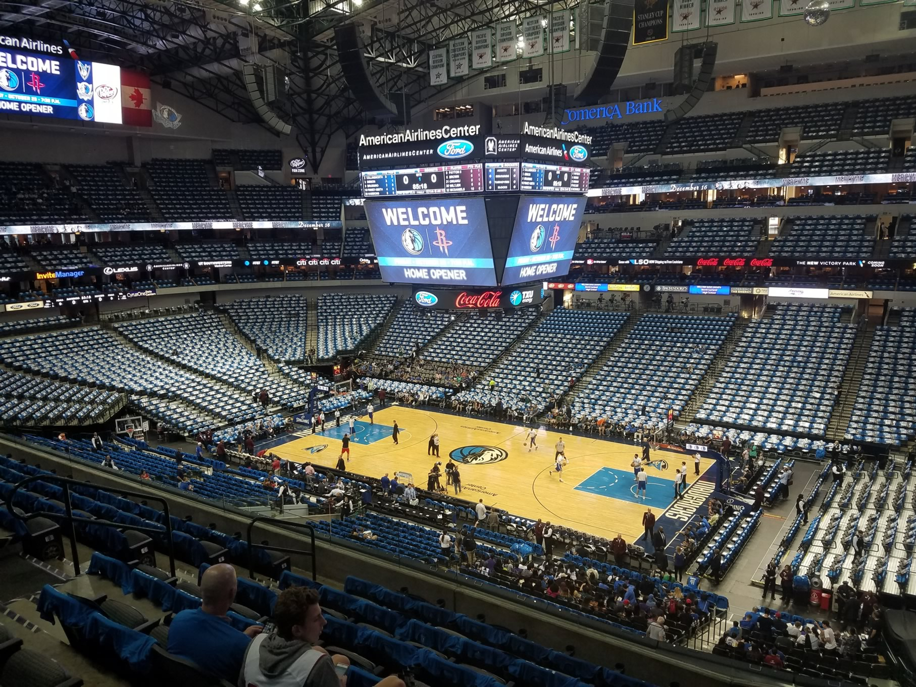 American Airlines Center Section 215 Dallas Mavericks