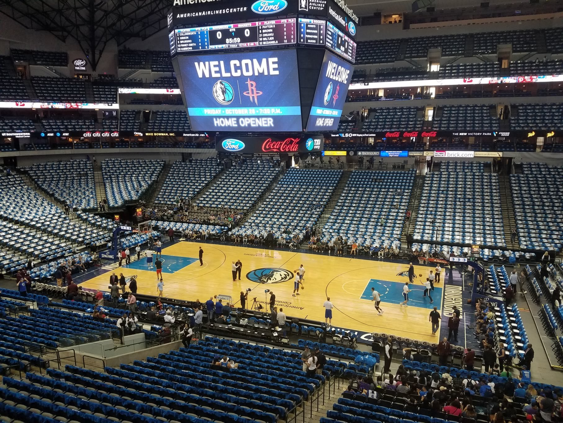 American Airlines Center Section 216 Dallas Mavericks