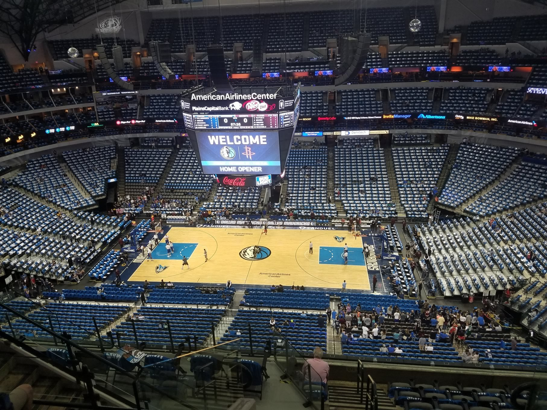 American Airlines Center Section 308 Dallas Mavericks