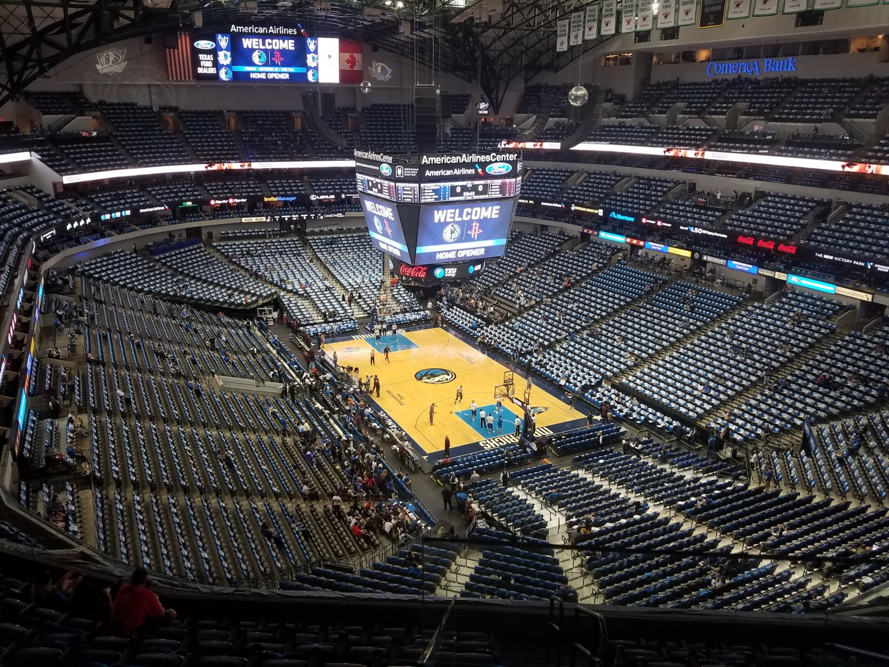 American Airlines Center Section 321 Dallas Mavericks