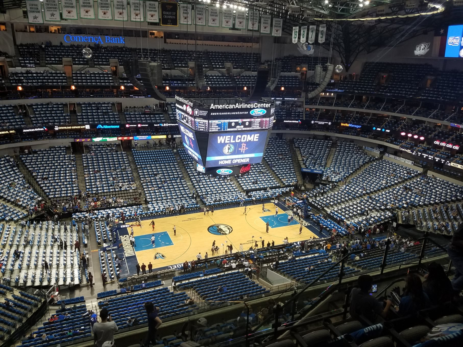 American Airlines Center Section 328 Dallas Mavericks