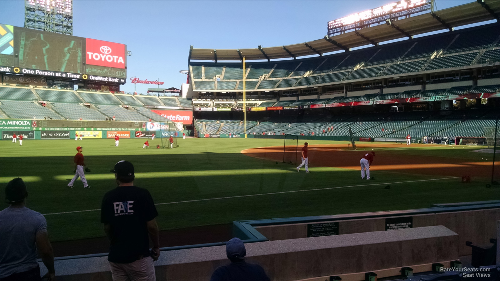 Angel Stadium Section 108 - RateYourSeats.com