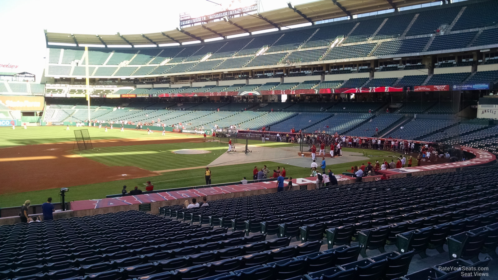 Angel Stadium Section 110 - RateYourSeats.com