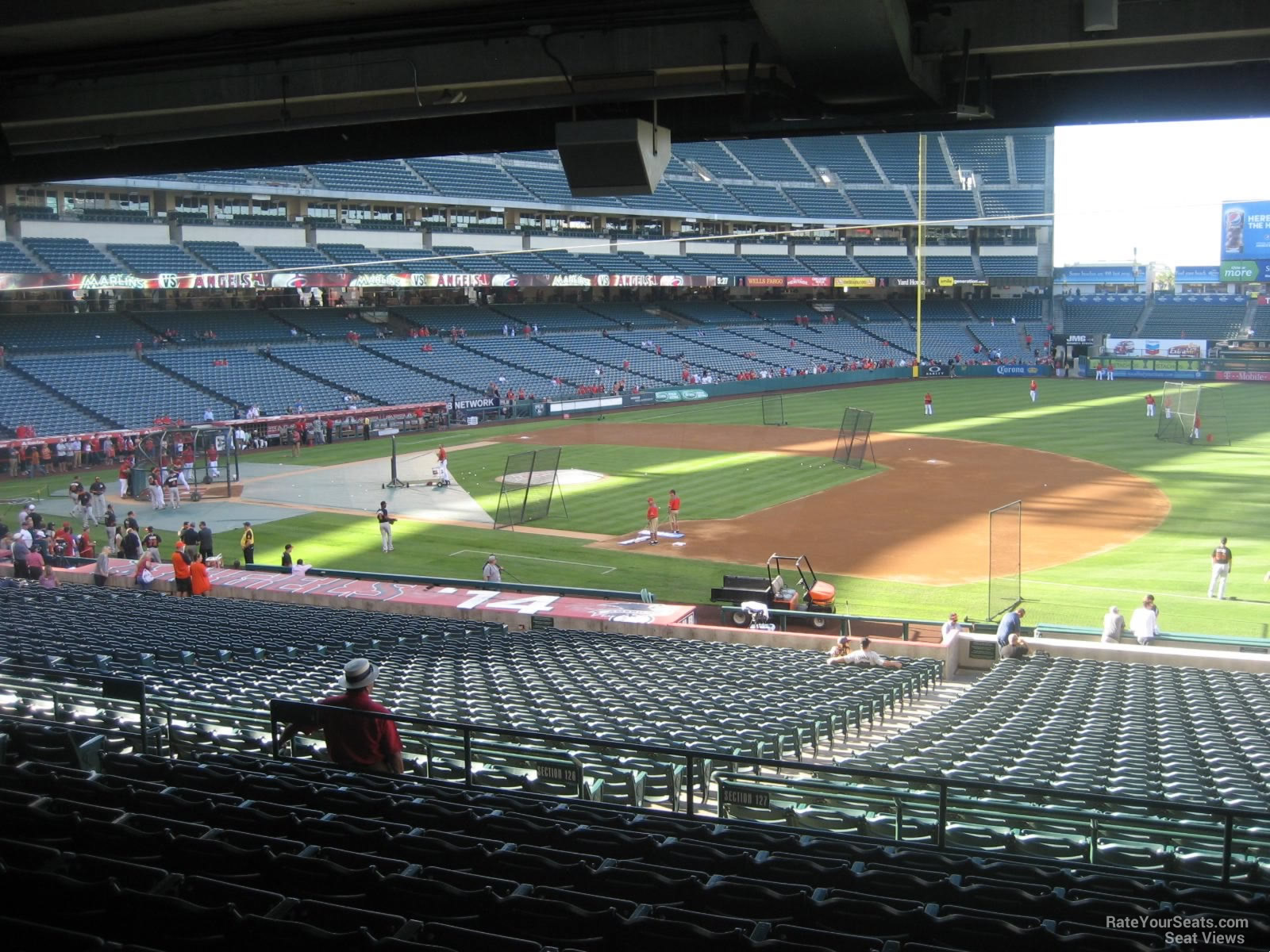 Terrace level infield angel stadium baseball seating for What does terrace mean