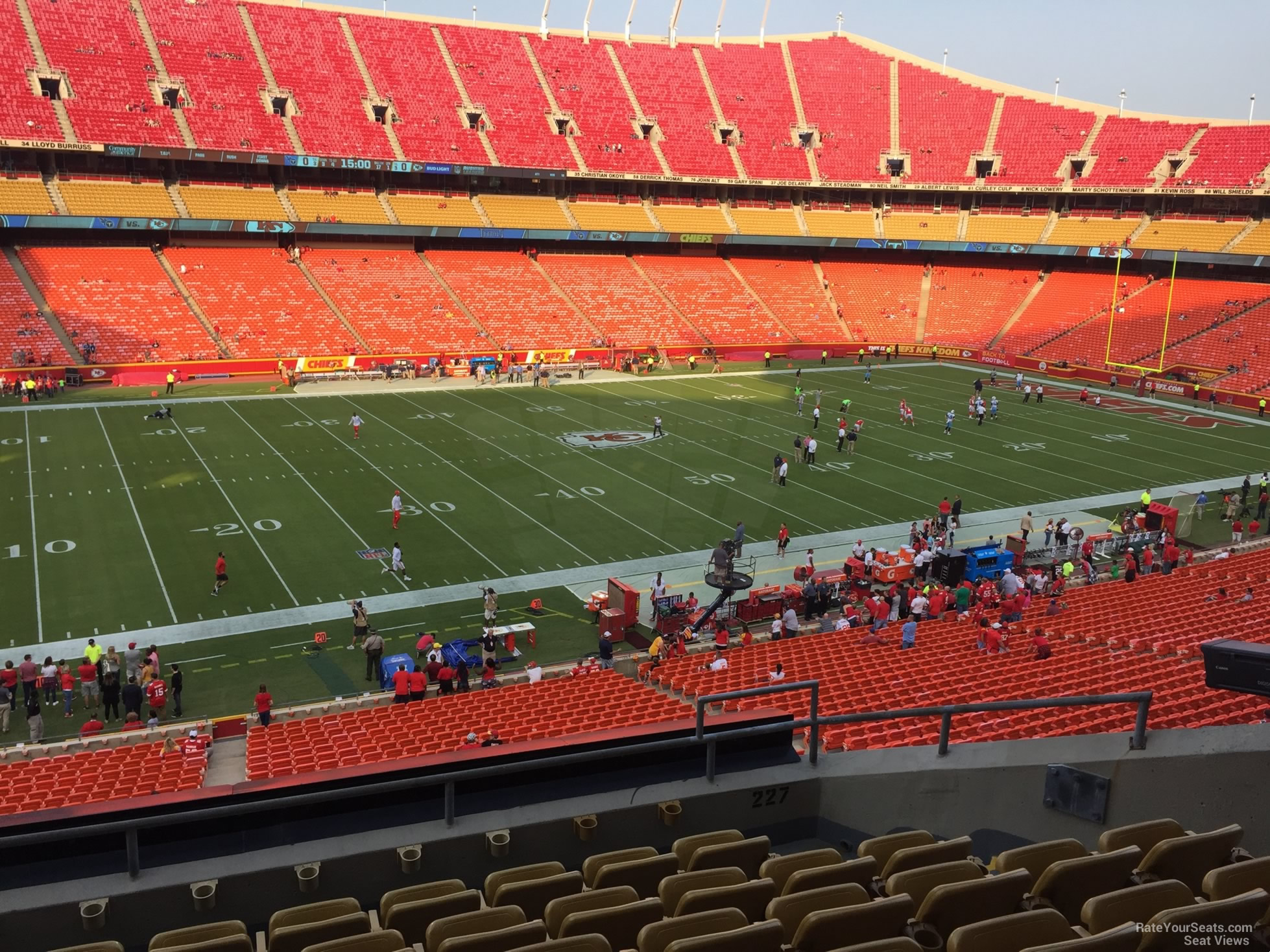 Arrowhead Stadium Section 227 - RateYourSeats.com