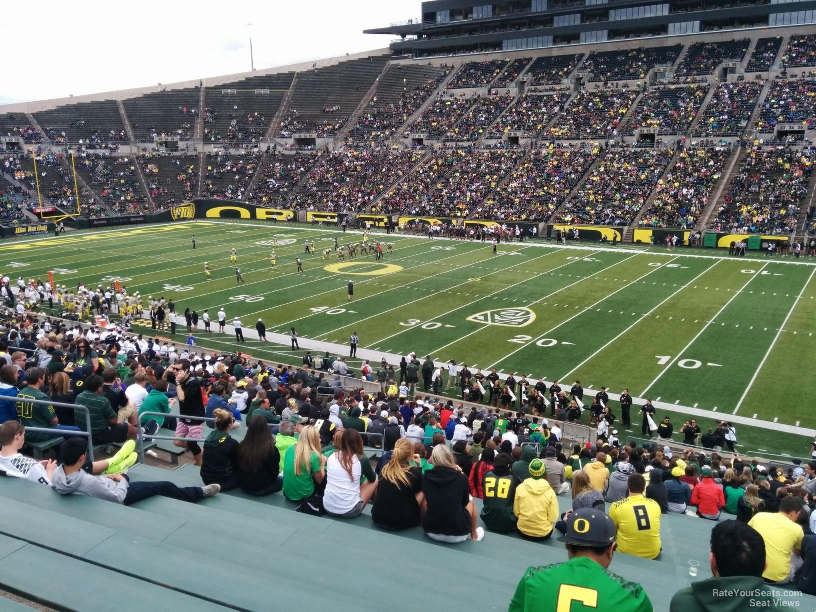 Autzen Stadium Section 8 - Oregon Football - RateYourSeats.com