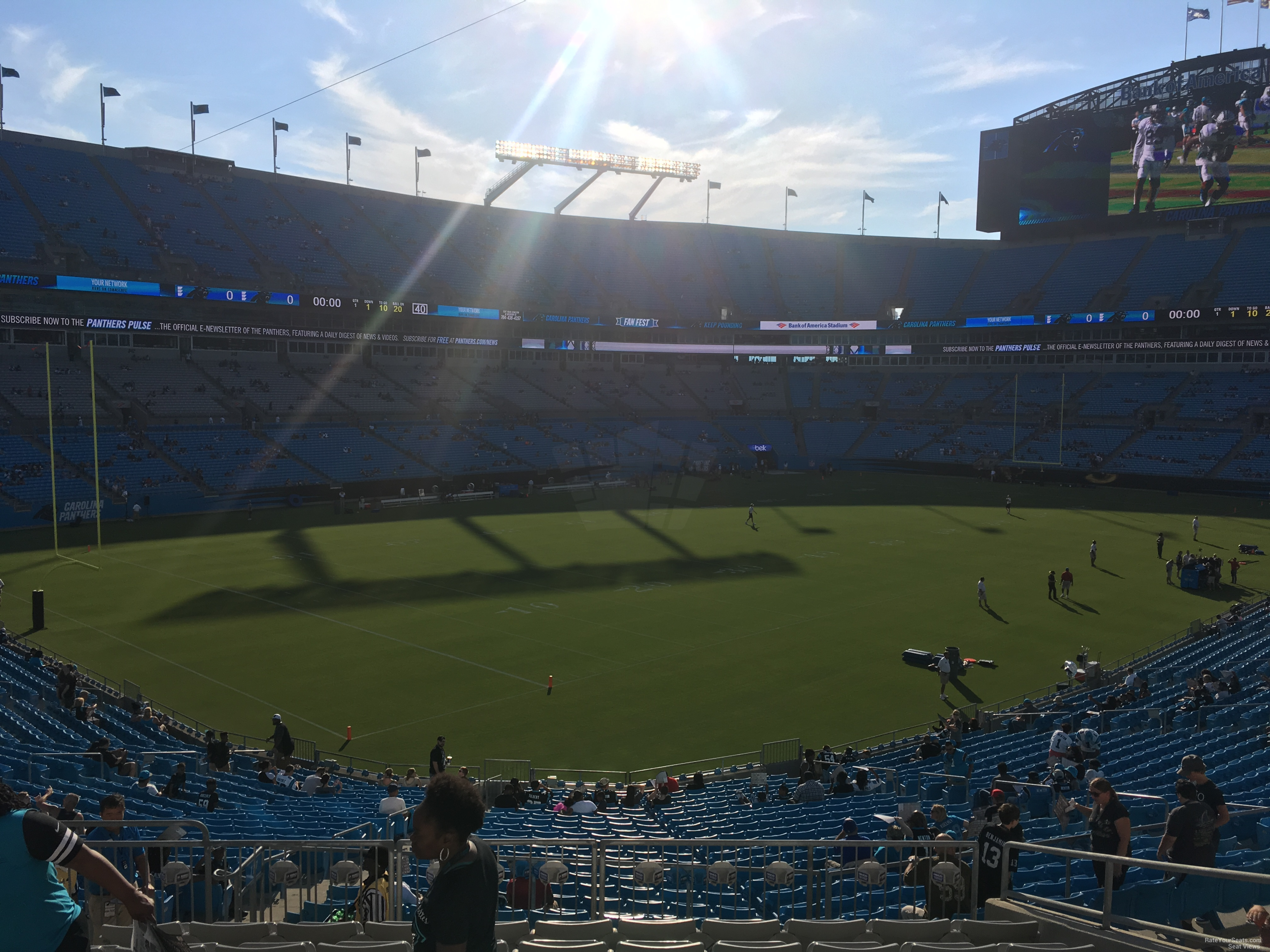 obstructed view seats at bank of america stadium