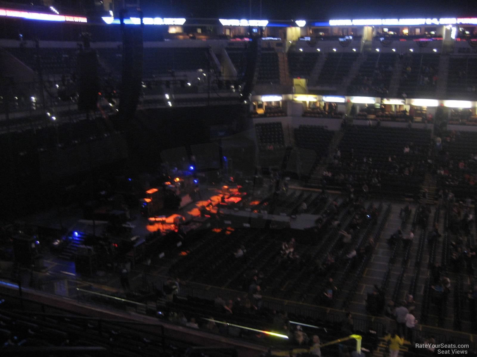 Bankers Life Fieldhouse Section 117 Concert Seating