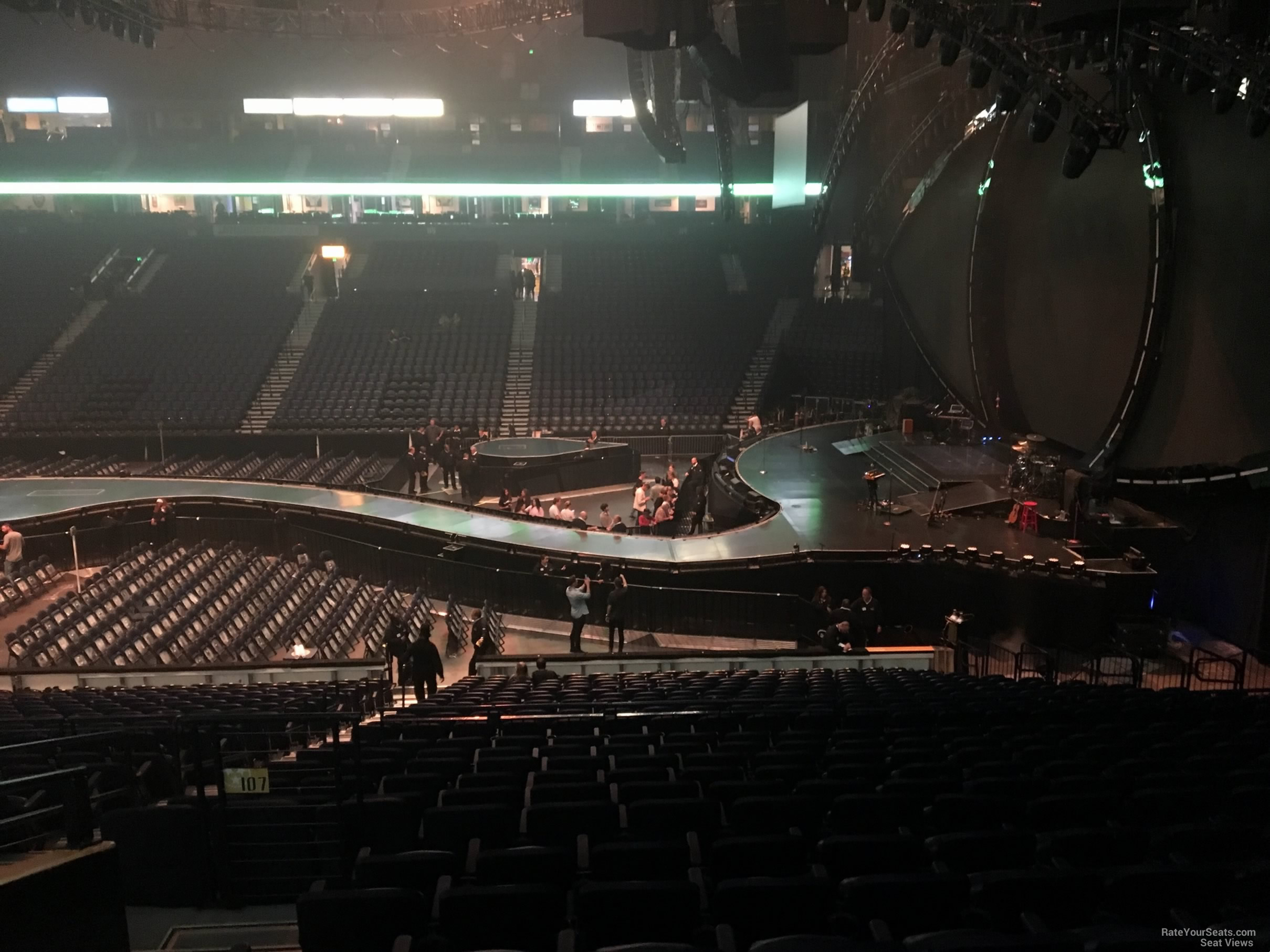 TD Garden arena seat & row numbers detailed seating chart Bridgestone arena seating pictures