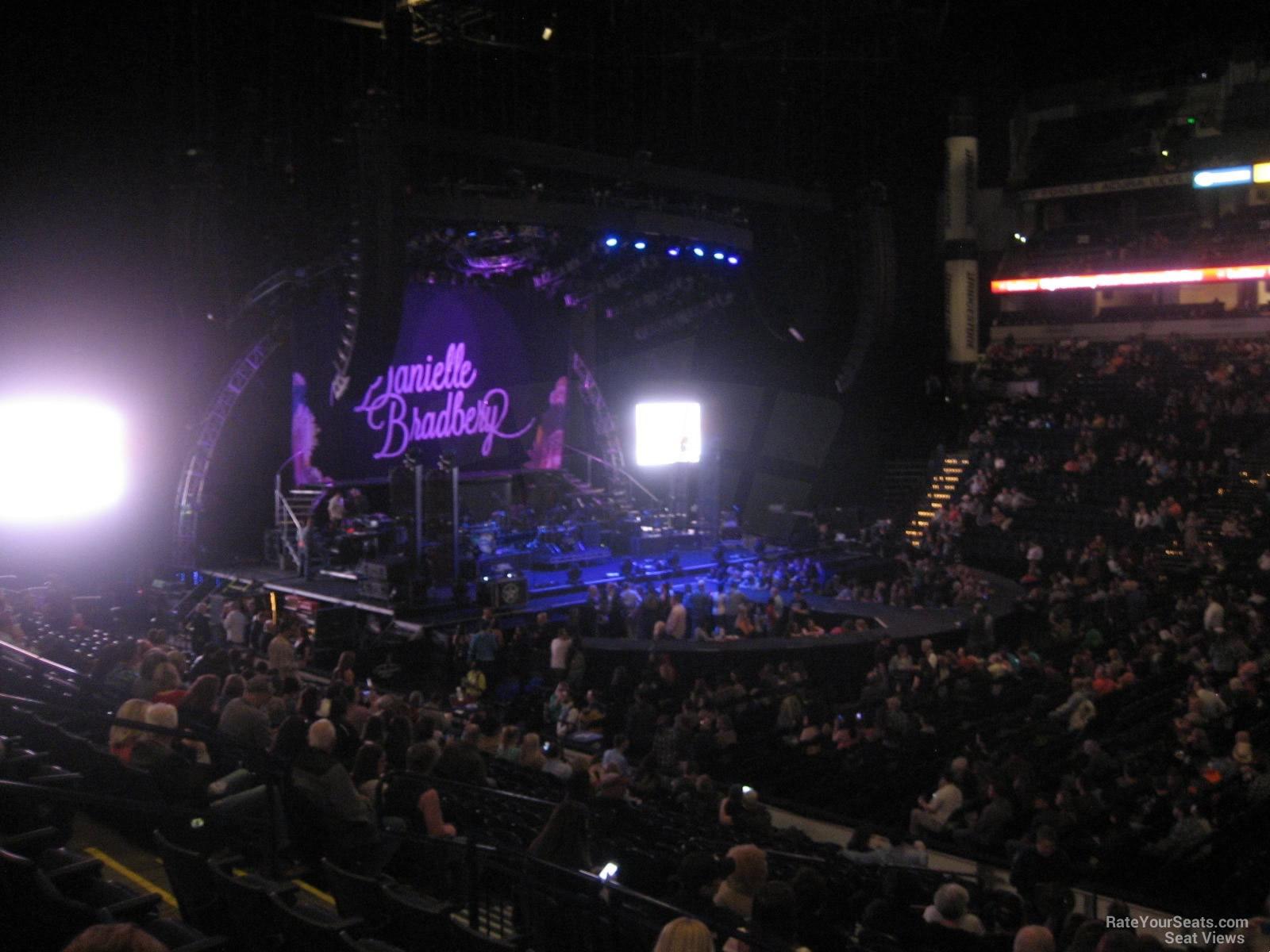 Bridgestone arena seating pictures