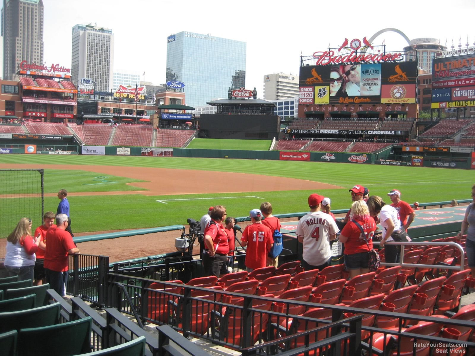 Busch Stadium Cardinals Club 1 - RateYourSeats.com