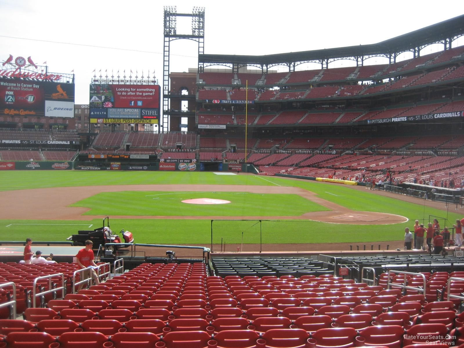 Field Level Infield Busch Stadium Baseball Seating