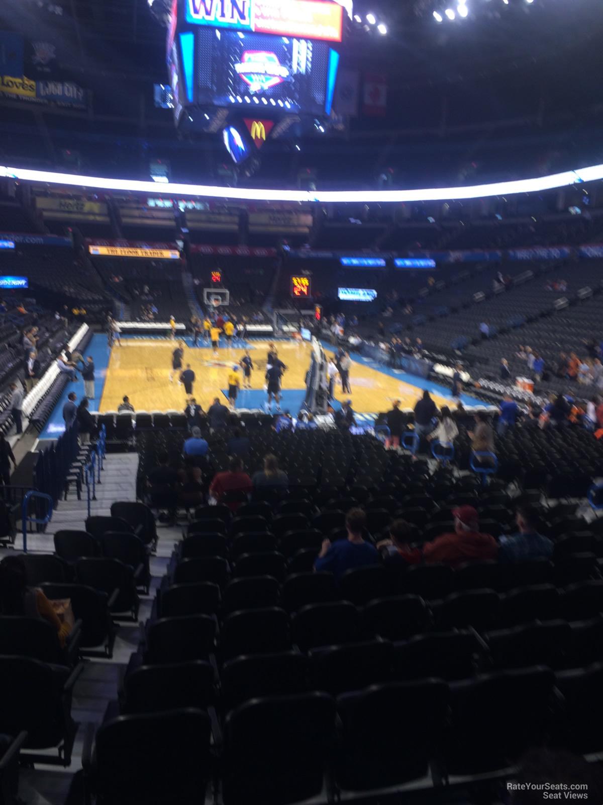 Chesapeake Energy Arena Section 101 Oklahoma City