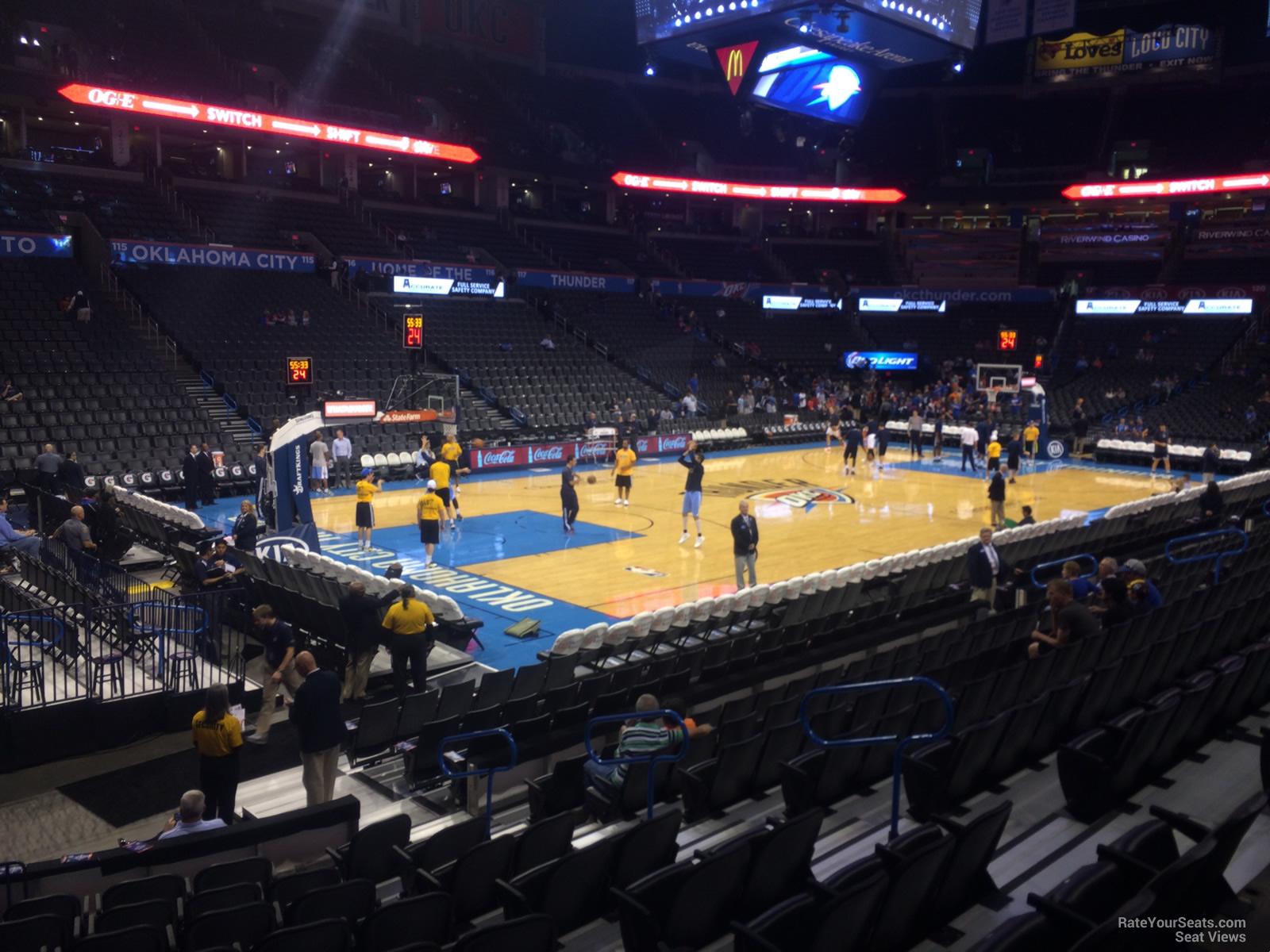 Chesapeake Energy Arena Section 108 Oklahoma City