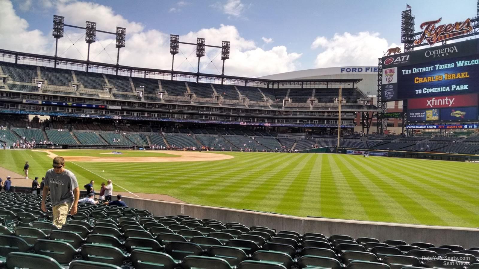 Comerica Park Section 112 - Detroit Tigers - RateYourSeats.com