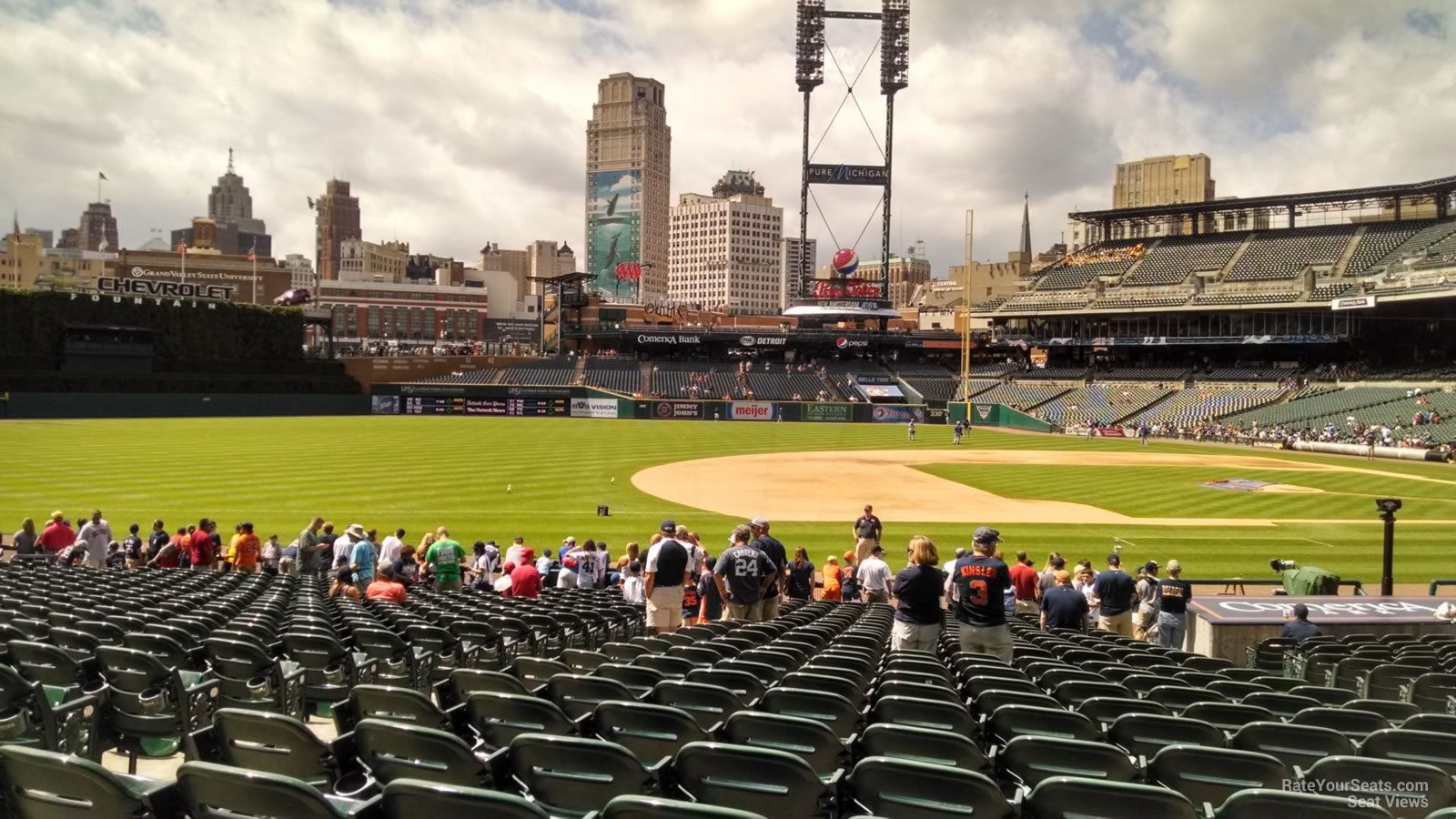 Comerica Park Section 136 - Detroit Tigers - RateYourSeats.com