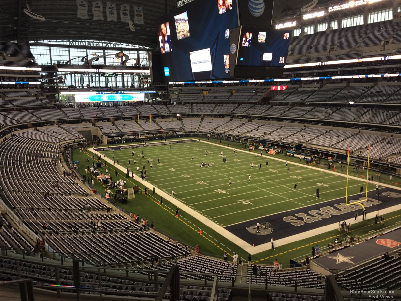 Third Row Seating >> AT&T Stadium Section 328 - Dallas Cowboys - RateYourSeats.com