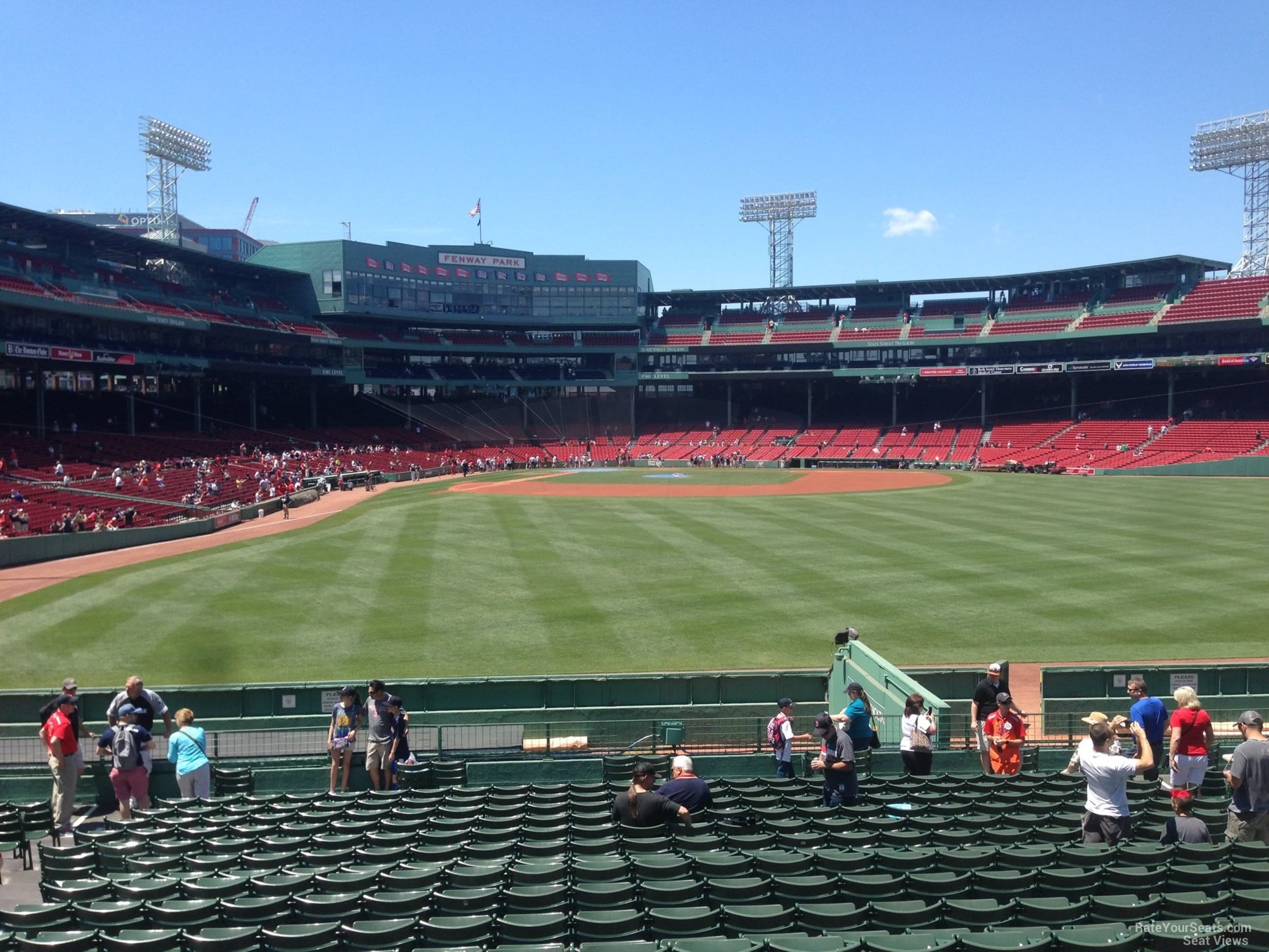 Red Shade Fenway Park Bleachers 42 Rateyourseats Com