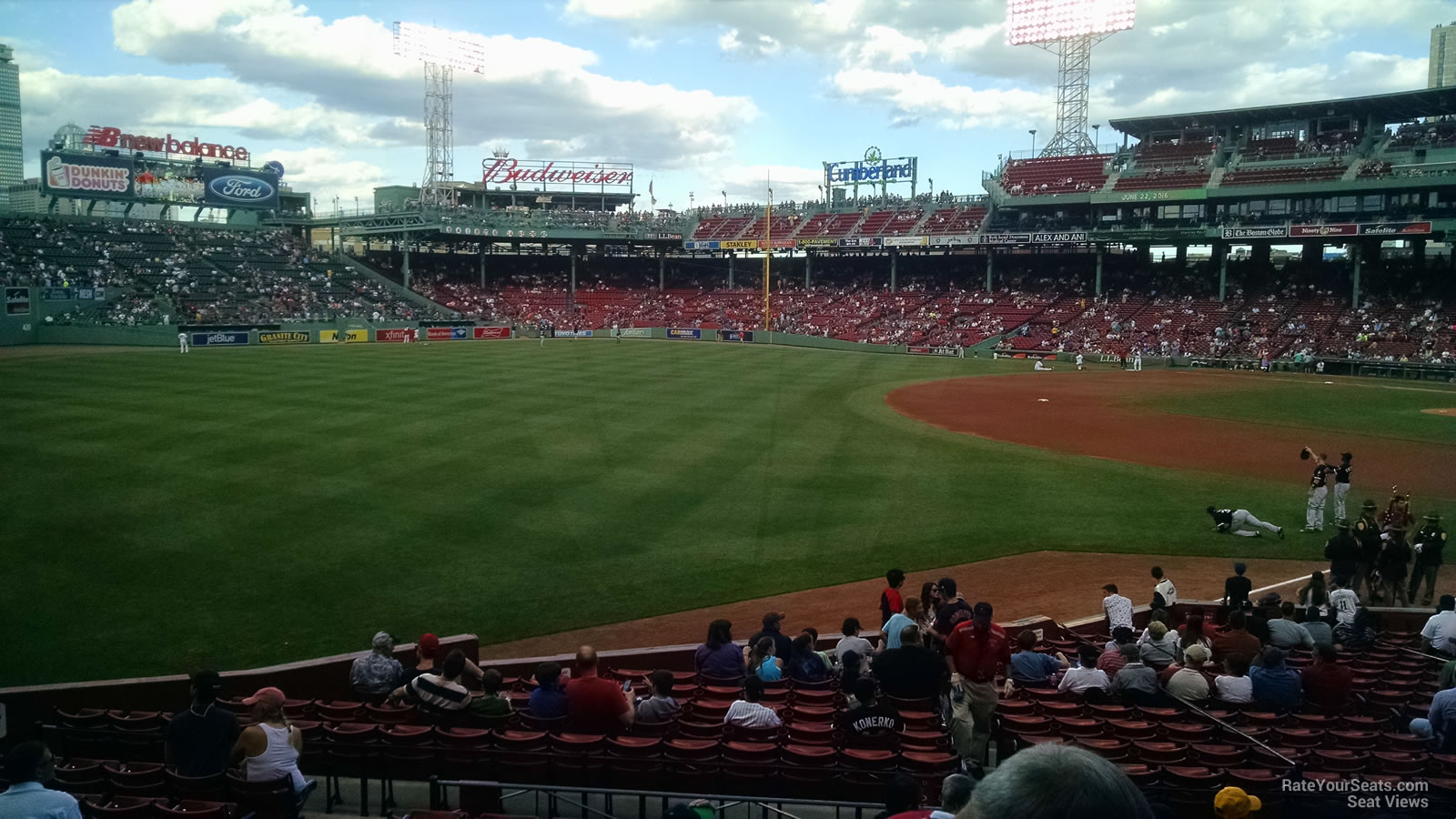Third Row Seating >> Fenway Park Loge Box 163 - RateYourSeats.com