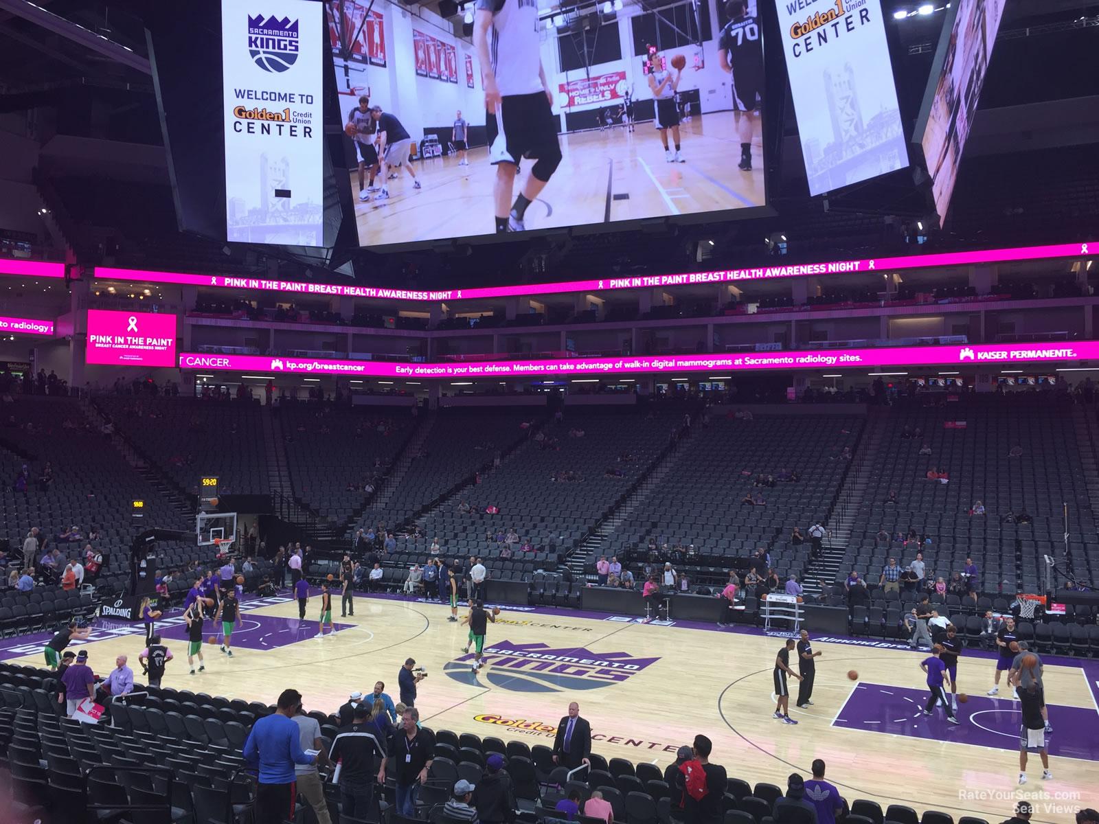 Aaa San Antonio >> Golden 1 Center Section 119 - Sacramento Kings ...