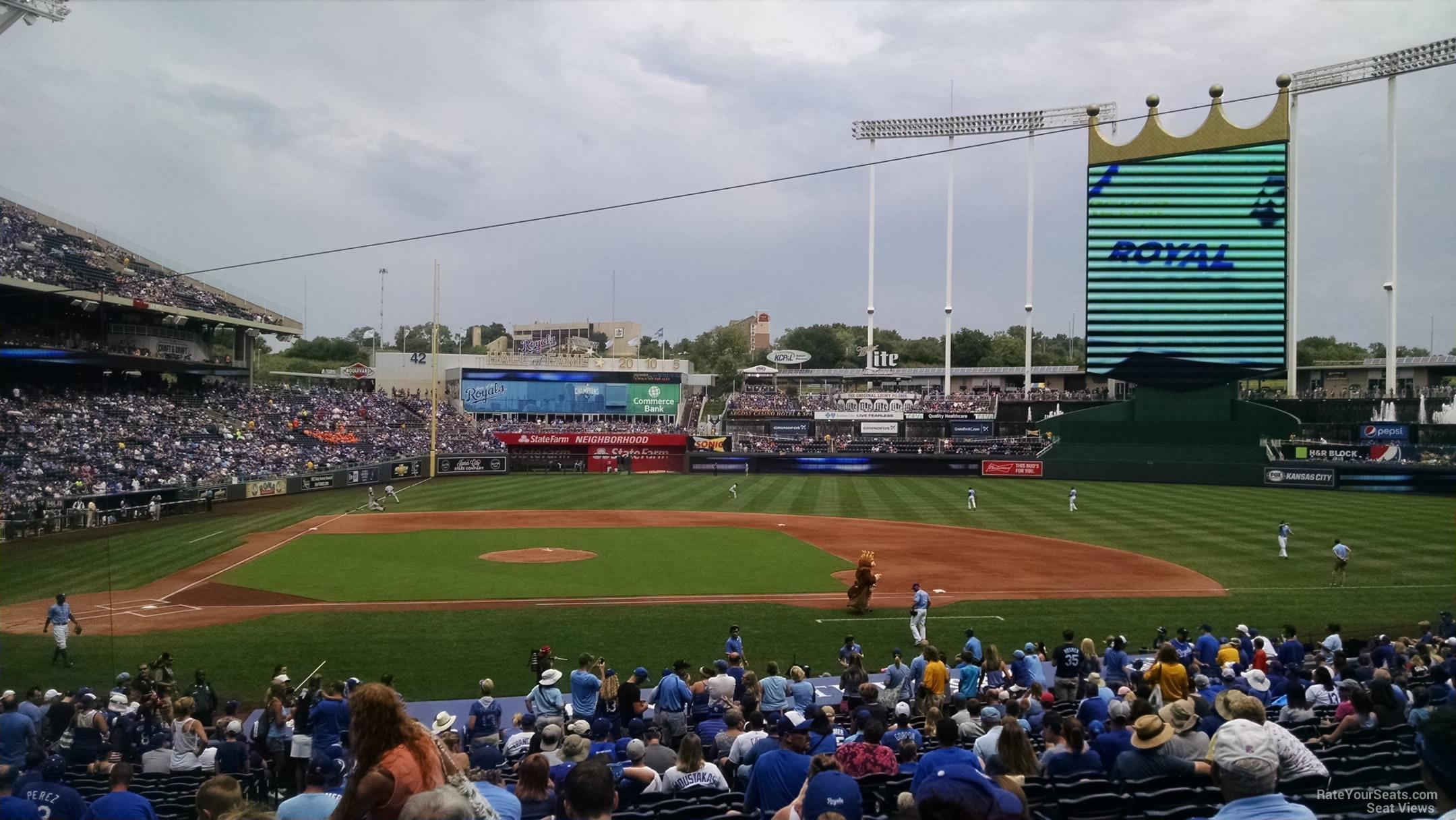 Kauffman Stadium Section 133 - RateYourSeats.com