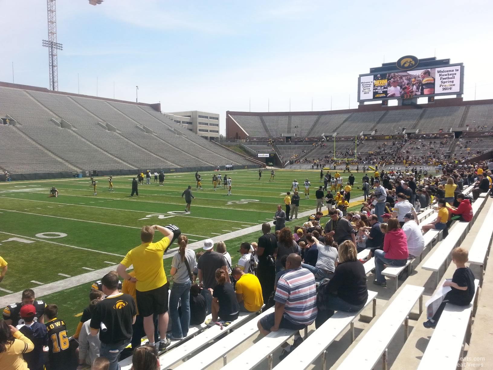 Kinnick stadium section 130