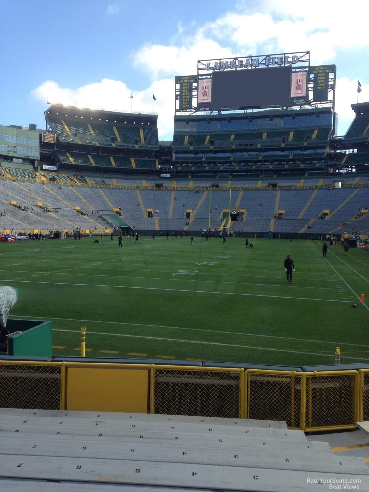Lambeau Field Section 104 - Green Bay Packers ...
