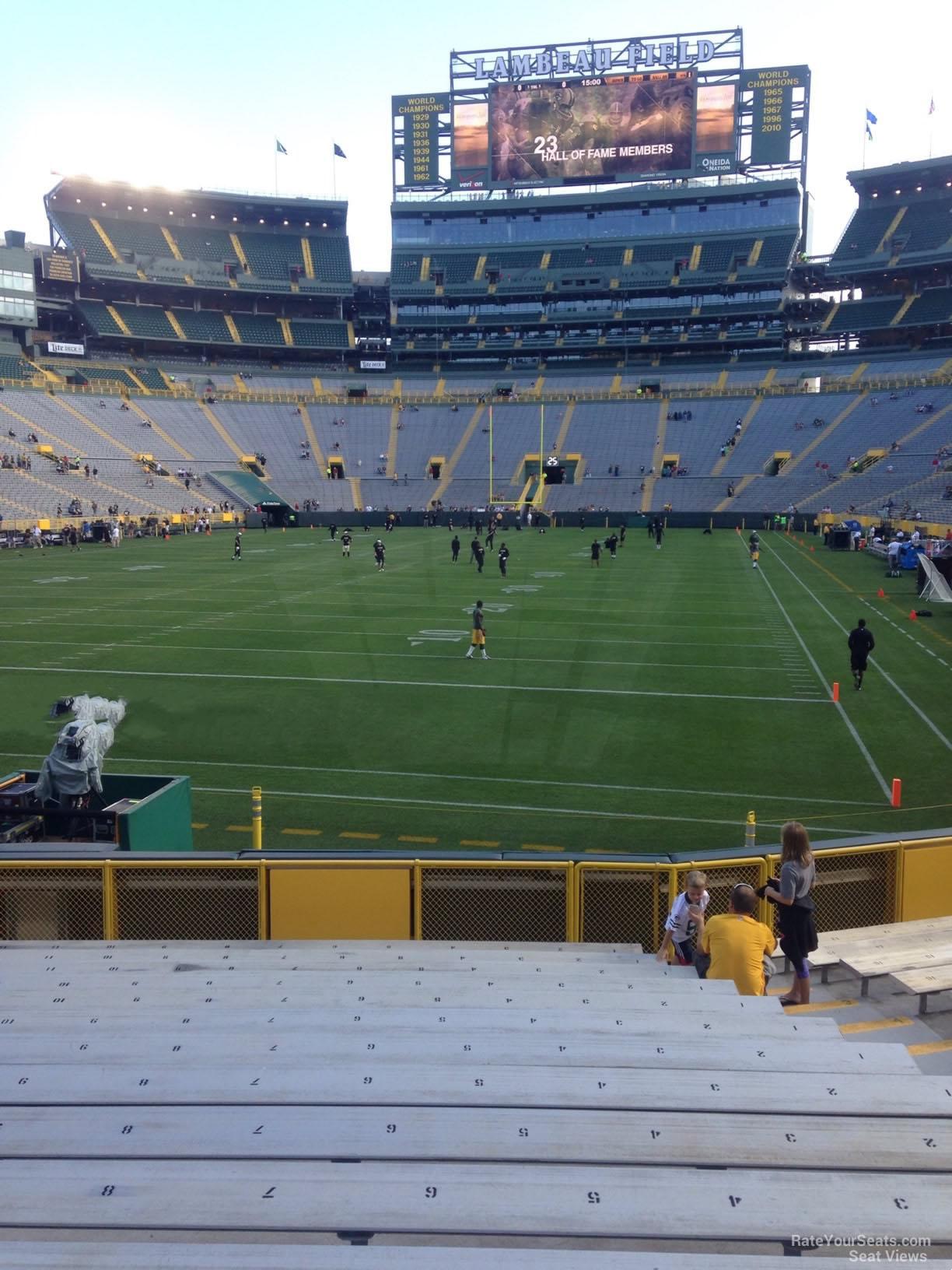 Lambeau Field Section 104 Green Bay Packers