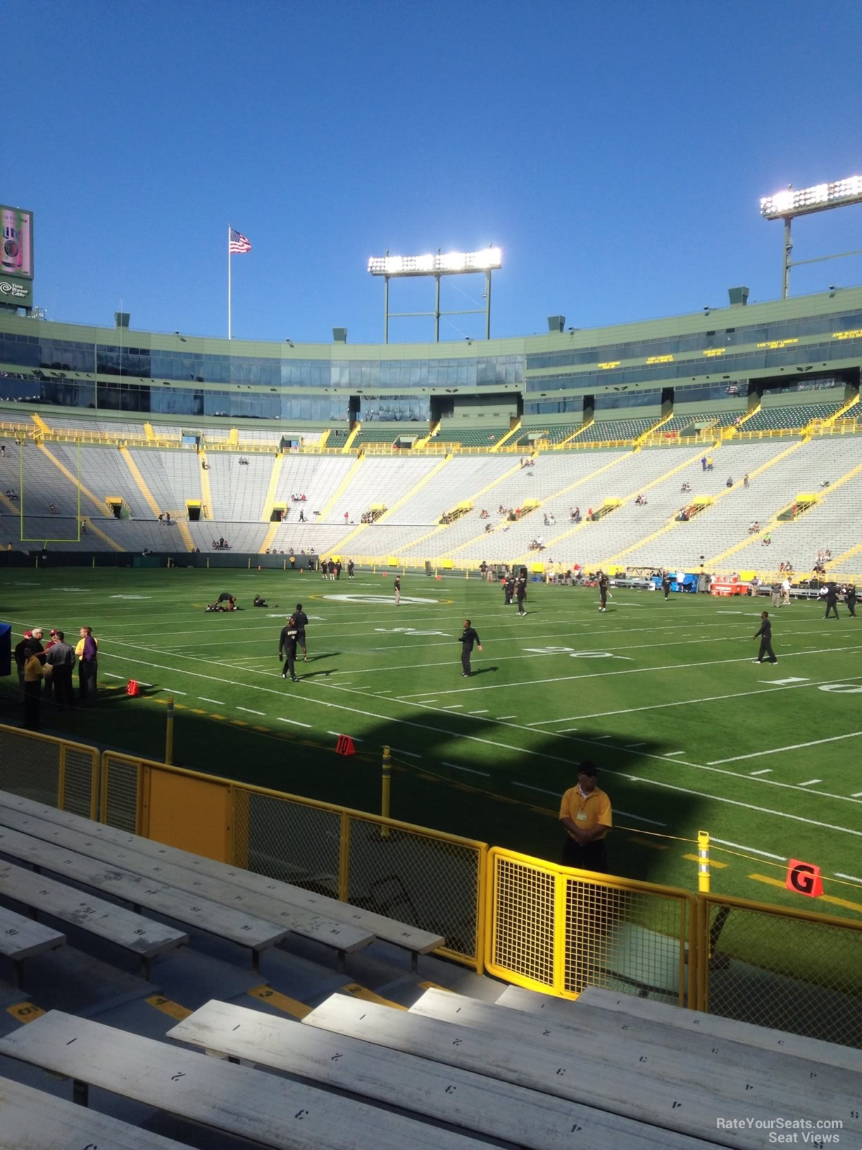 Lambeau Field Section 130 Green Bay Packers Rateyourseats Com