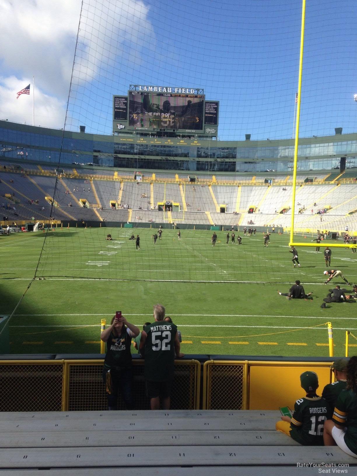 Lambeau Field Section 138 - Green Bay Packers ...