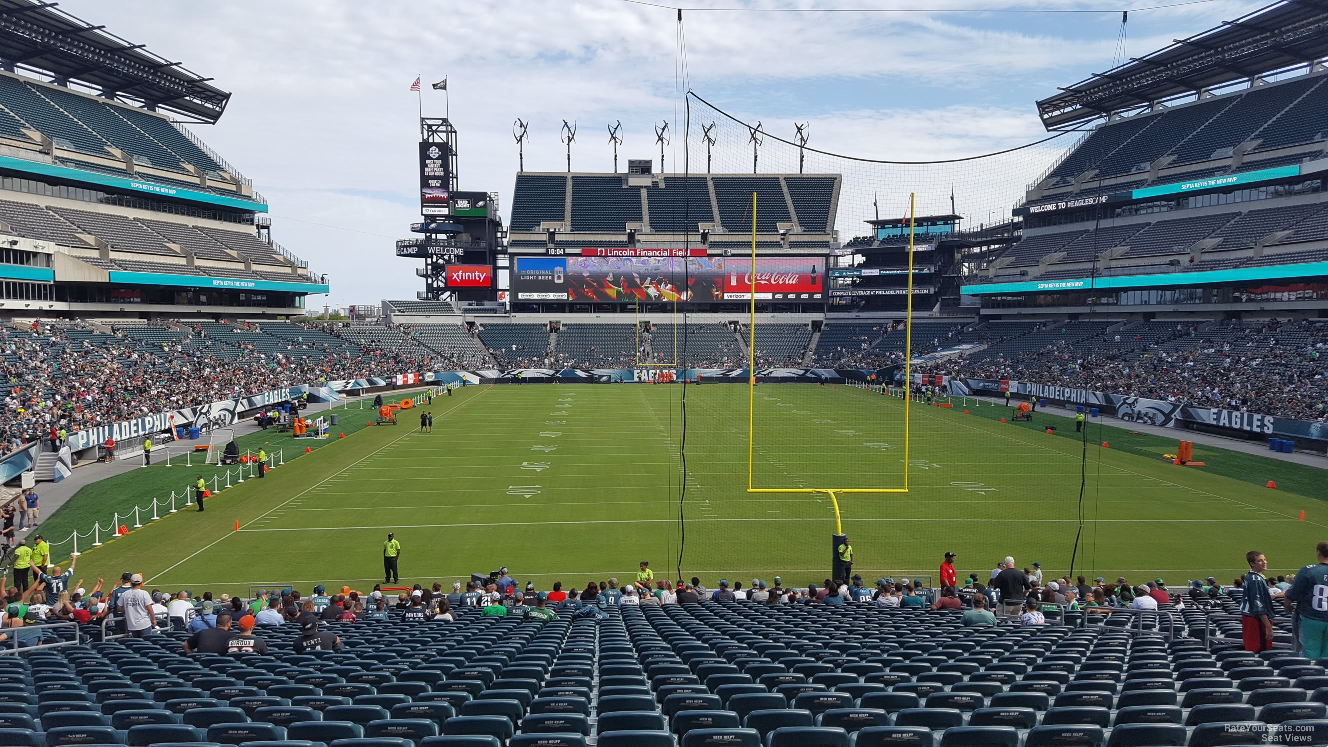 Lincoln Financial Field Section 110 Philadelphia Eagles