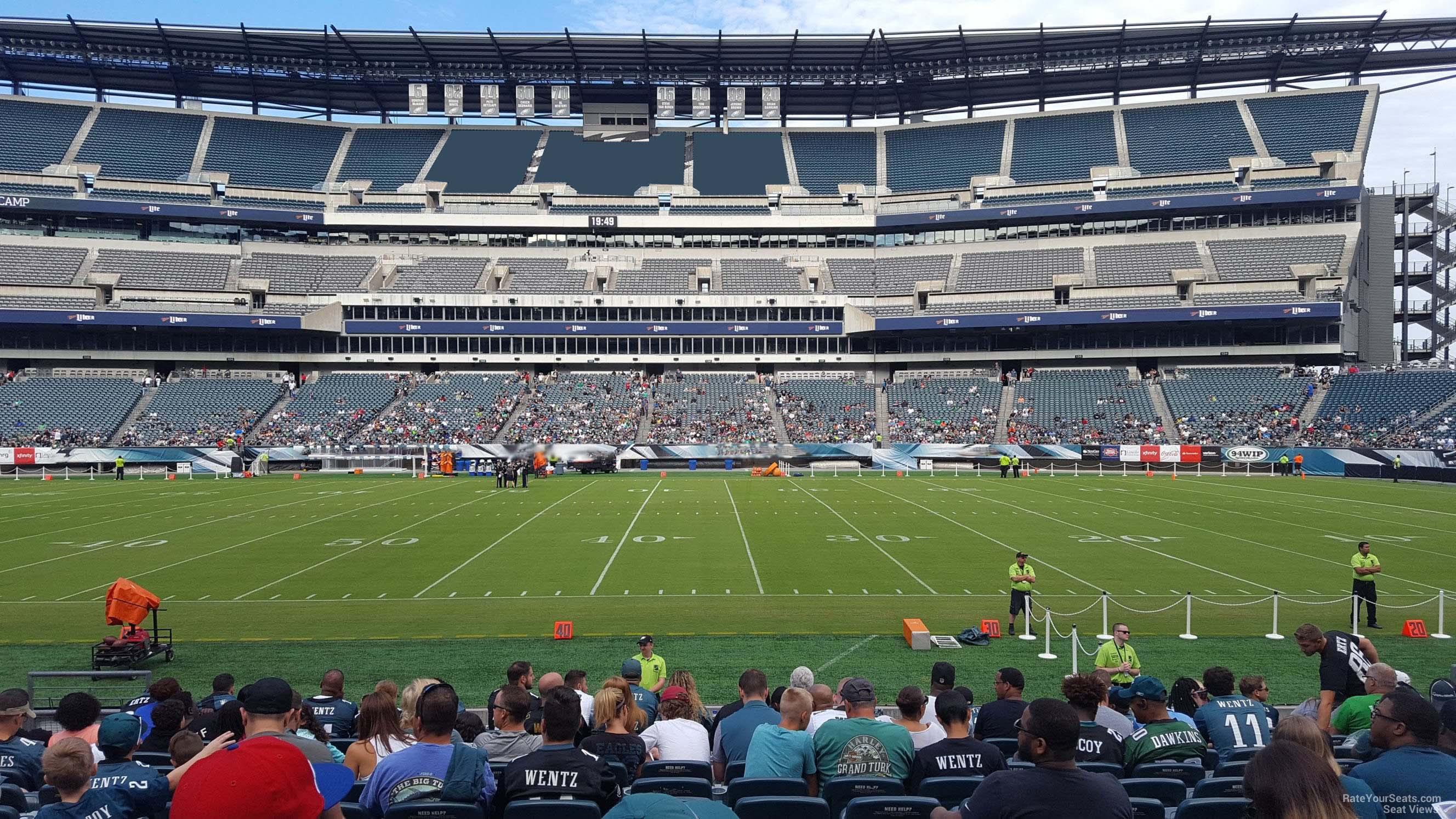 Lincoln Financial Field Section 121 Philadelphia Eagles